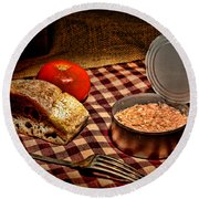 Meager Lunch Round Beach Towel