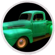 Mean Green - 48 Ford Round Beach Towel