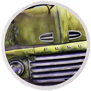 Mean Green Ford Truck Round Beach Towel
