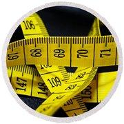 Measures Round Beach Towel