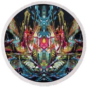 Mechanical 572  11 Round Beach Towel