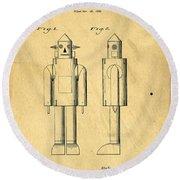 Mechanical Man Patent Round Beach Towel