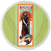Medee Round Beach Towel