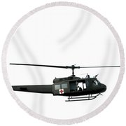 Medic Helicopter Round Beach Towel