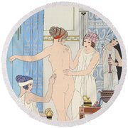 Medical Massage Round Beach Towel by Joseph Kuhn-Regnier