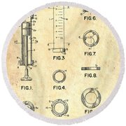 Medical Syringe Patent 1954 Round Beach Towel