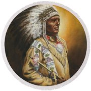 Medicine Chief Round Beach Towel