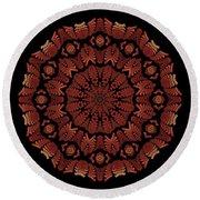 Medicine Wheel Dragonspur Fractal K12-3 Round Beach Towel
