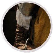 Medieval Faire Boot Detail 2 Round Beach Towel