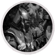 Medieval Faire Knight's Victory 1 Round Beach Towel