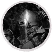 Medieval Faire Knight's Victory 2 Round Beach Towel