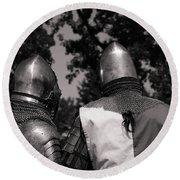 Medieval Faire Planning Strategies Round Beach Towel