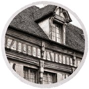 Medieval House Round Beach Towel