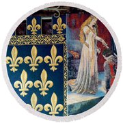 Medieval Tapestry Round Beach Towel by France  Art