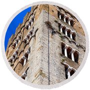 Medieval Tower Round Beach Towel