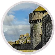 Medieval Towers Round Beach Towel