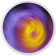 Meditation - Abstract Energy Art By Sharon Cummings Round Beach Towel