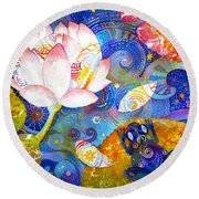 Meditation Round Beach Towel