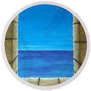 Meditation Round Beach Towel by Pamela Allegretto