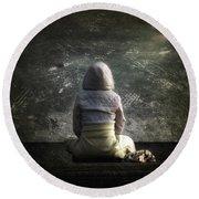 Meditation Round Beach Towel