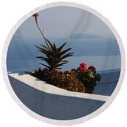 Mediterranean Views Round Beach Towel