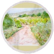Medjugorje Path To Apparition Hill Round Beach Towel