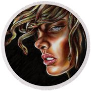 Medusa No. One Round Beach Towel