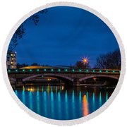 Medway Bridge Round Beach Towel