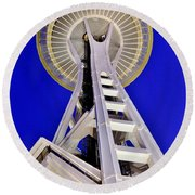 Meet Me At The Needle Round Beach Towel