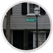 Meeting St Round Beach Towel