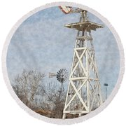 Megan's Windmill Round Beach Towel