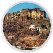 Mehrangarh Fort Round Beach Towel