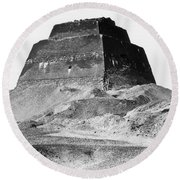 Meidum Pyramid, 1879 Round Beach Towel by Science Source