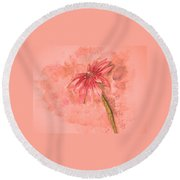 Melancholoy Round Beach Towel by Crystal Hubbard