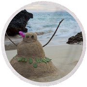 Mele Kalikimaka Merry Christmas From Paako Beach Maui Hawaii Round Beach Towel