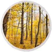 Mellow Yellow Round Beach Towel