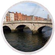Mellows Bridge In Dublin Round Beach Towel