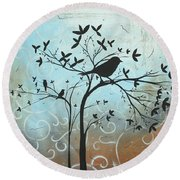 Melodic Dreams By Madart Round Beach Towel