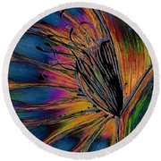 Melted Crayons Round Beach Towel