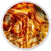 Melting Gold Round Beach Towel