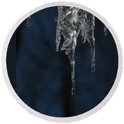 Melting Icicle Formation The Joker Round Beach Towel