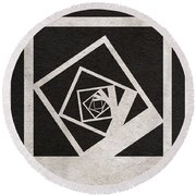 Memento Round Beach Towel