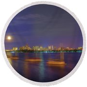 Memorial Drive - Cambridge Round Beach Towel
