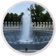 Memorial Fountain Washington Dc Round Beach Towel