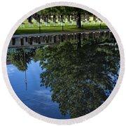 Memorial Reflecting Pool Round Beach Towel