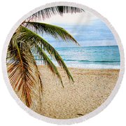 Memories Of A Gentle Wave Round Beach Towel
