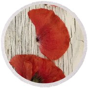 Memories Of A Summer Vertical Round Beach Towel