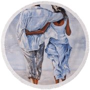Memories Of Love Round Beach Towel