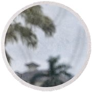 Memories Of The Tropics Round Beach Towel