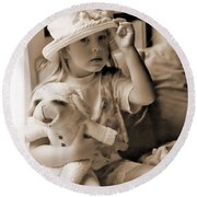 Memories Out Of Time Round Beach Towel